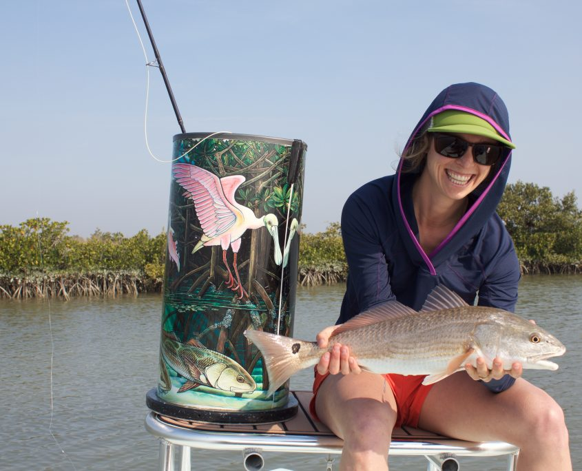 Red Drum on fly
